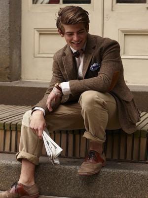 blazer masculino marrom de lã