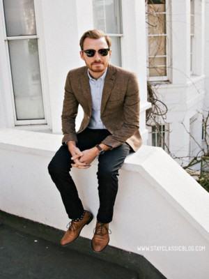 blazer masculino marrom