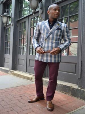blazer masculino xadrez