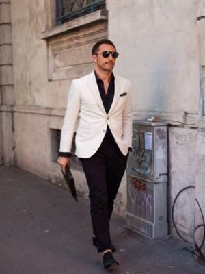 como usar blazer masculino branco
