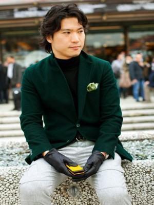 como usar blazer masculino verde