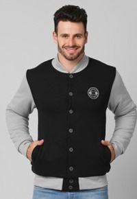 comprar jaqueta preta e cinza
