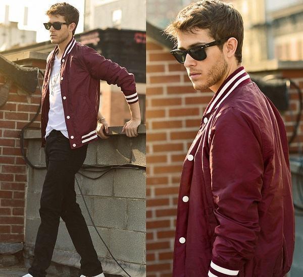 jaqueta college vermelha