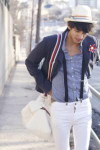 bolsa masculina branca