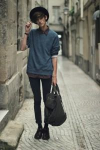 bolsa masculina de pano