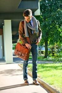 bolsa masculina estilo carteiro