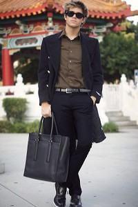 bolsa masculina de mão