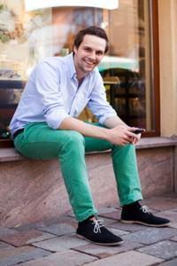 calça colorida masculina verde