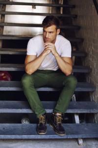 calça masculina colorida verde