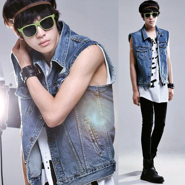 colete jeans rock