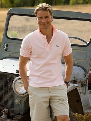 camisa polo rosa masculina
