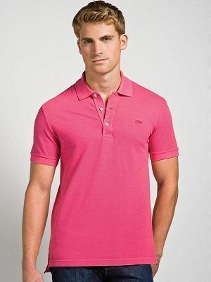 camisa rosa polo masculina