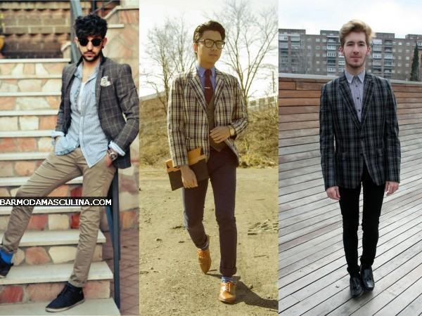 blazer xadrez masculino como usar
