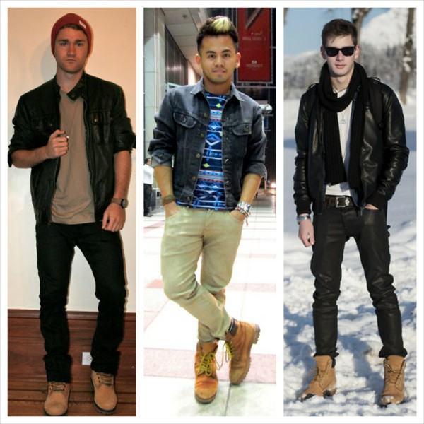 1001 maneiras de usar as botas timberland bar moda masculina - Burra para colgar ropa ...