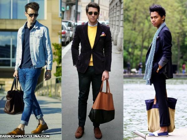 bolsa masculina tote