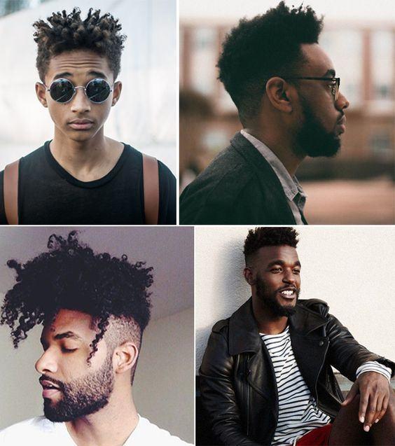 cabelo afro masculino penteados
